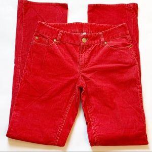 J. Crew Red 4 Tall Vintage Wash Corduroys